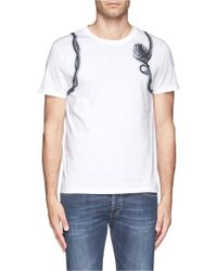 Alexander McQueen Floral and Vine Harness Print Tshirt - Lyst