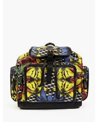 Pierre Hardy Men'S Printed Canvas Backpack multicolor - Lyst