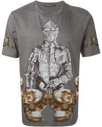Dolce & Gabbana Knight Print Tshirt - Lyst