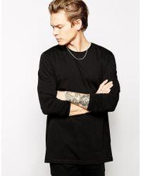 Asos Longline Skater Long Sleeve T-shirt - Lyst