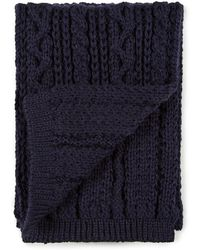 Sunspel - Lambswool Cable Knit Scarf - Lyst