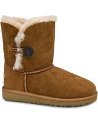 Ugg Kids Bailey Button Sheepskin Boots - Lyst