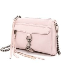 Rebecca Minkoff Mini Mac Cross Body Bag - Pale Pink - Lyst