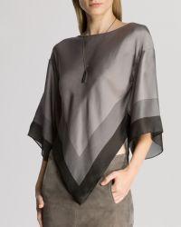 Halston Heritage Top - Color Block Silk Kimono Sleeve - Lyst