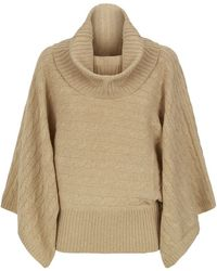 Polo Ralph Lauren Cable Knit Poncho Sweater - Lyst