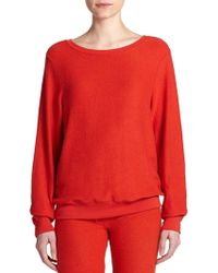 Wildfox Boatneck Sweatshirt red - Lyst