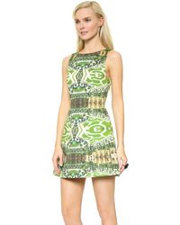Alice + Olivia Carrie Boatneck Structured Dress - Mirrored Garden - Lyst