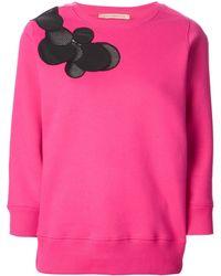 Christopher Kane Pink Cady Sweatshirt - Lyst