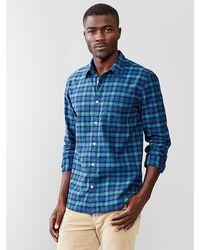 Gap Elm Plaid Lightweight Twill Shirt - Lyst
