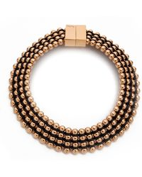 Bex Rox - Frida Collar Necklace Rose Goldblack - Lyst