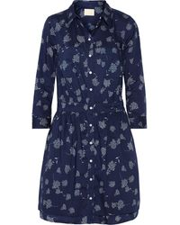 Band Of Outsiders Printed Cotton Dress - Lyst