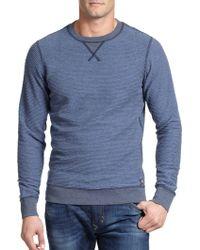 Diesel P-Lisse Striped Cotton Sweatshirt blue - Lyst