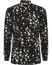 Saint Laurent Square Print Shirt - Lyst