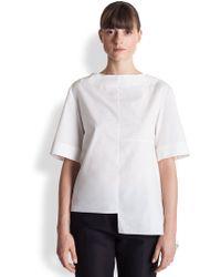 Marni Asymmetrical Cotton Blouse - Lyst