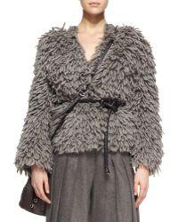 Michael Kors Textured Wool-Blend Sweater - Lyst