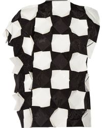 Junya Watanabe Appliquéd Shell And Faux Patent-Leather Top - Lyst