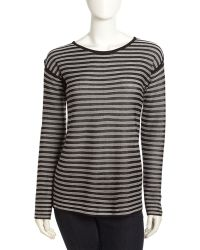 T By Alexander Wang Striped Longsleeve Tee - Lyst