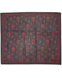Alexander McQueen Silk Allover Skull Print Scarf - Lyst