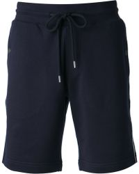 Moncler Striped Detail Track Shorts - Lyst