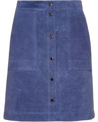 Vanessa Bruno Athé | Button-front Suede Skirt | Lyst