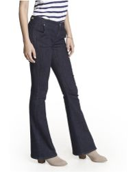 Express Mid Rise Trouser Style Slim Flare Jean - Lyst