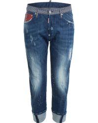 DSquared² Distressed Jeans - Lyst
