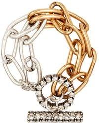 Camille K - Stella Double Chain Bracelet - Lyst