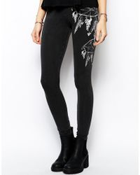 Asos Dream Catcher Printed Leggings - Lyst