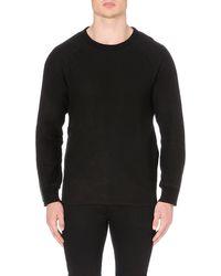Blk Dnm Crew Neck Zip Detail Sweater Black - Lyst