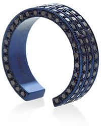 Maison Dauphin - Blue Rhodium And Black Diamond Three Row Band - Lyst
