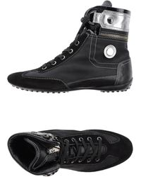 Tod's High-Tops & Trainers black - Lyst