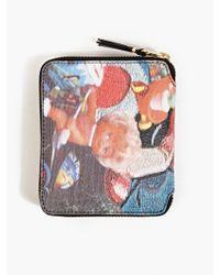 Comme Des Garçons X Aurélie Mathigot Men'S Printed Leather Zip Wallet - Lyst