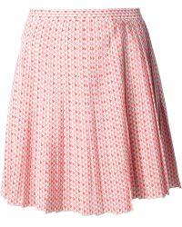 Vanessa Bruno Patterned Skirt - Lyst