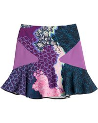 Peter Pilotto Mixed Print Flared Mini-Skirt - Lyst