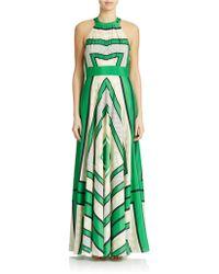 Eliza J Plus Geometric Halter Maxi Dress - Lyst