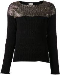Suno Crinkly Raglan Sweater - Lyst
