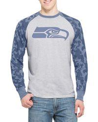 47 Brand - 'stealth Camo - Seattle Seahawks' Raglan T-shirt - Lyst