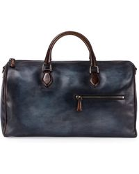 Berluti - Small Leather Duffle Bag - Lyst