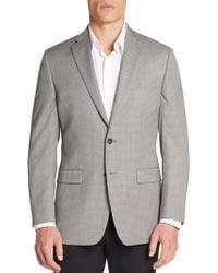 Calvin Klein | Slim-fit Micro Gingham Wool Sportcoat | Lyst