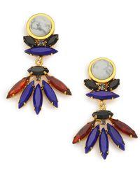 Lizzie Fortunato Casa Azul Howlite Drop Earrings - Lyst