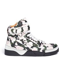 Givenchy Tyson Floral Print Leather Hightop Sneakers - Lyst