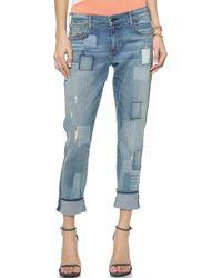 True Religion Audrey Slim Boyfriend Jeans - Wondering Traveler - Lyst