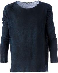 Avant Toi Long Sleeve T-Shirt - Lyst