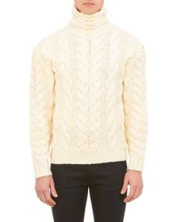 Ralph Lauren Black Label Chunky Cableknit Turtleneck Pullover Sweater - Lyst