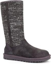 Ugg Camaya Metallic Suede Boots - Lyst