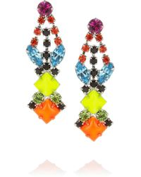 Tom Binns - Pendant Crystal Earrings - Lyst