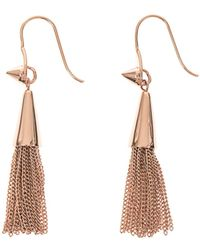 Eddie Borgo Cone Tassel Goldplated Earrings - Lyst