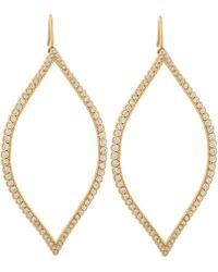 Jamie Wolf - Gold Diamond Open Marquis Leaf Earrings - Lyst