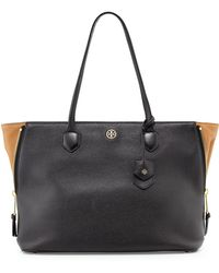 Tory Burch Robinson Leather Side-zip Tote Bag - Lyst