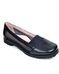Taryn Rose Jac Metallic Leather Loafers - Lyst